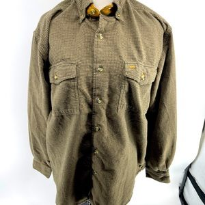 Men's medium north crest button up shirt